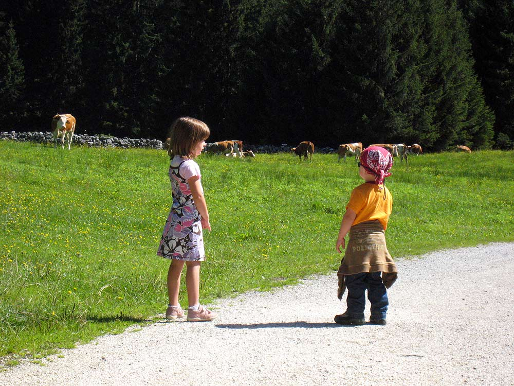 Auch für Kinder gut machbar: die Wanderung zur Doagl Alm