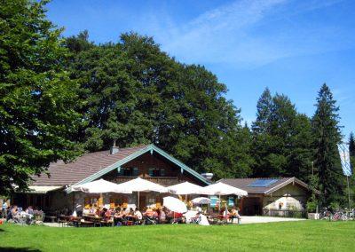 Das beliebte Ausflugsziel Doagl Alm im Sommer