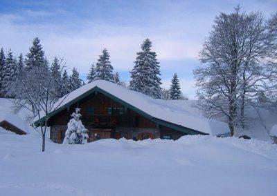 Im Winter sollten Sie den Schlitten/das Rodel nicht vergessen.